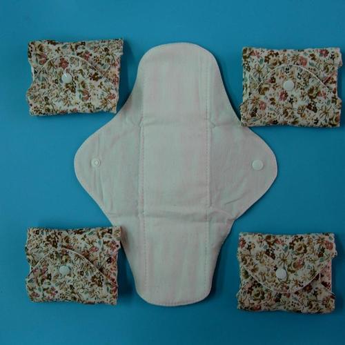 5片.日用天然純棉布衛生棉26cm 防水手工製作 環保健康可水洗重複使用
