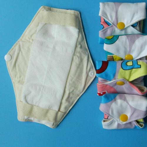 日用量少/一般流量細帶固定用防漏 天然純棉布衛生棉保護層 21cm 防水可以墊衛生紙或其他吸水布,環保健康可水洗重複使用