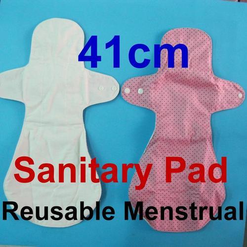 夜用加長型/量多/產後/成人漏尿,天然純棉布衛生棉41cm 有防水層,透氣環保健康可水洗重複使用