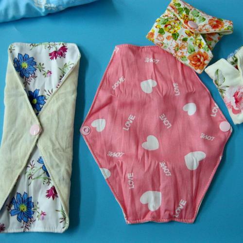 日用少量/一般流量 有機棉有機布衛生棉21cm 有防水層 環保健康可水洗重複使用