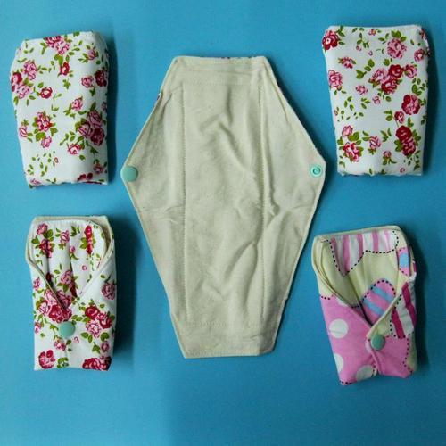 24cm 有防水層日用一般流量 天然棉純棉布衛生棉手工製作 環保健康可水洗重複使用,健康舒適