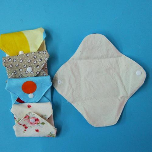 日用護墊/經期前後/漏尿/量少型,有機棉有機布衛生棉19cm 無防水層,透氣環保健康可水洗重複使用,曬乾快
