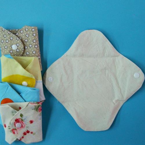 5片日用護墊/經期前後/漏尿/量少型,有機棉有機布衛生棉19cm 無防水層,透氣環保健康可水洗重複使用,曬乾快