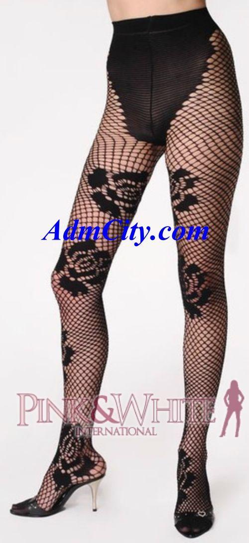 法式剪裁比基尼玫瑰魚網狀褲襪