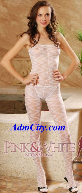 開檔/下開式設計貓女裝褲襪+上衣一體成型艷麗動人.內衣外穿最佳方式.