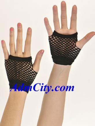 露指網狀造型手套手腕長度.