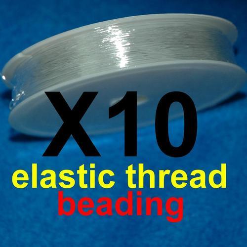 10入組, 10捲 縫紉透明彈性線,透明串珠線.