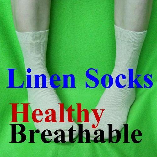 男襪, 男生亞麻中性中統襪 適合腳長:25~29 大腳女孩也適合