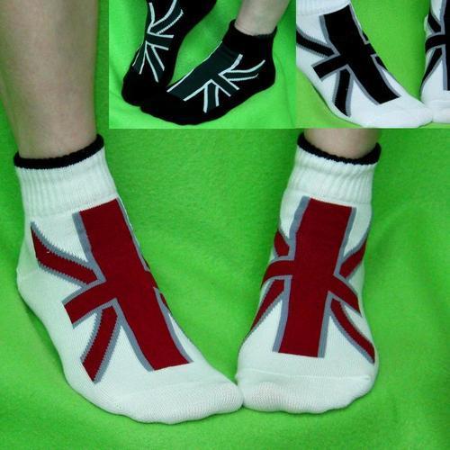 英國國旗多色女用短襪 適合腳長:22~25公分.