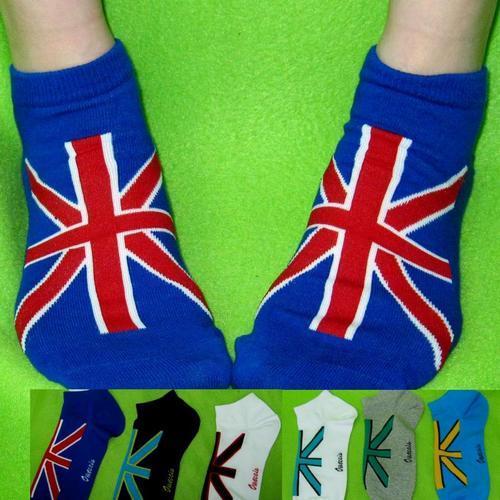 男短襪女短襪英國國旗中性短襪 男女通用 適合腳長: 22~27公分.