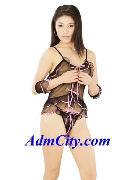 2 件式組. 無袖女用胸衣 + 性感內褲.