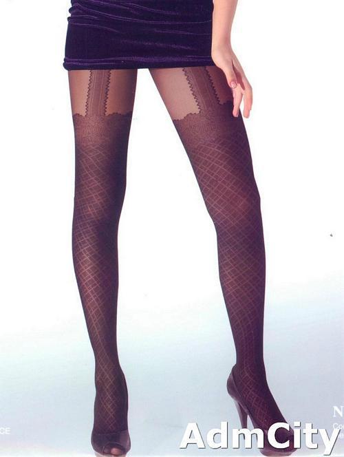仿吊帶造型褲襪.85%尼龍15%polyester