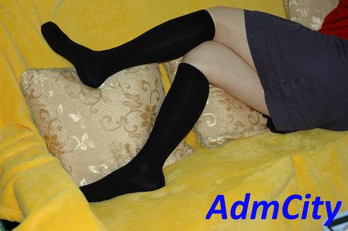 膝蓋長度女襪 襪子.