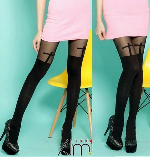 超彈性 spandex 透明 不透明薄霧 褲襪 .