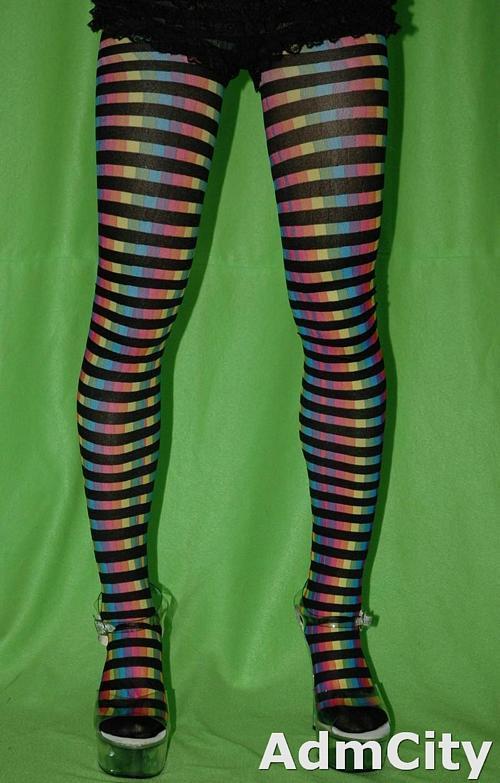 彩虹色spandex彈性纖維褲襪褲襪片.穿上它, 您將會是世界上最閃亮的一顆星,柔軟親膚.