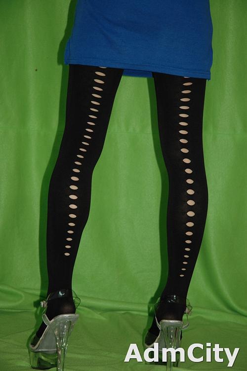 spandex彈性纖維不透明褲襪, 前後鑰匙孔背線設計.非常適合搭配服飾.讓你日夜都性感.