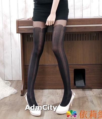 仿馬靴造型spandex彈性纖維褲襪