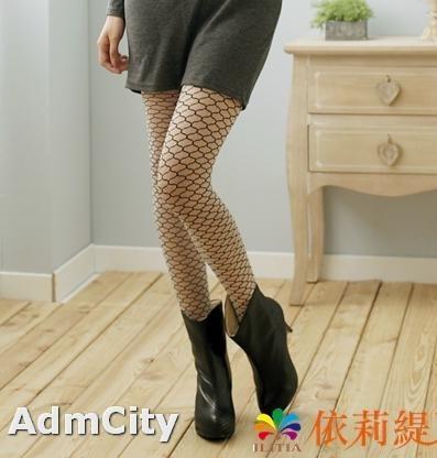 歐美時尚. 超彈性大蜂巢假網狀 不透明褲襪