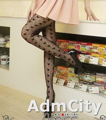 日系風格波卡點點形spandex彈性纖維透明褲襪蝴蝶結圖騰,直條蝴蝶結點點排列超美性感透明褲襪.
