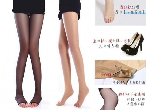 30丹腳趾透風涼鞋專用褲襪透明及腰最配搭迷你裙超彈性纖維褲襪
