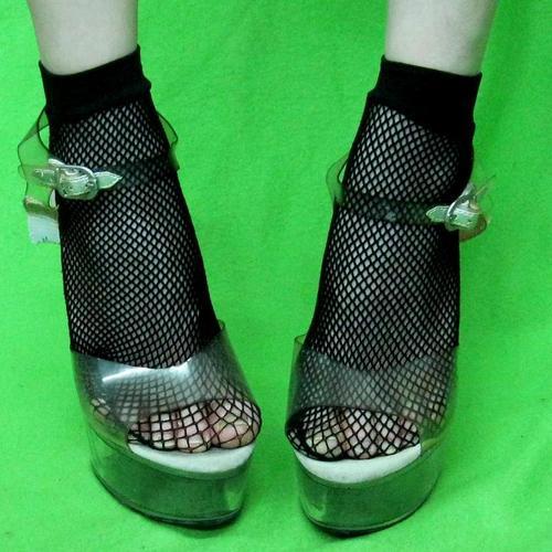 性感時尚彈性網狀腳踝襪網襪短襪短網襪