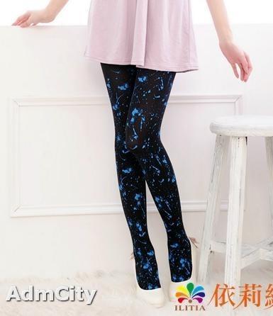 超彈性活潑藍色噴漆 不透超彈性纖維褲襪