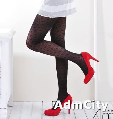 薄紗超彈性大格紋褲襪.柔軟親膚.單一尺寸適合臀圍23~28英吋,臀圍34~37英吋,身高145公分~165公分
