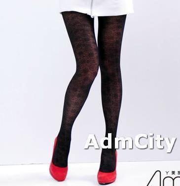 雪花造型 透明褲襪超彈性纖維薄紗褲襪.適合150到162公分.22到25英吋.臀圍32到35英吋.