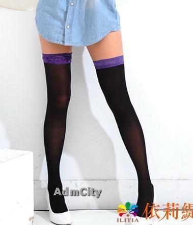 基本款蕾絲不透大腿襪長統襪