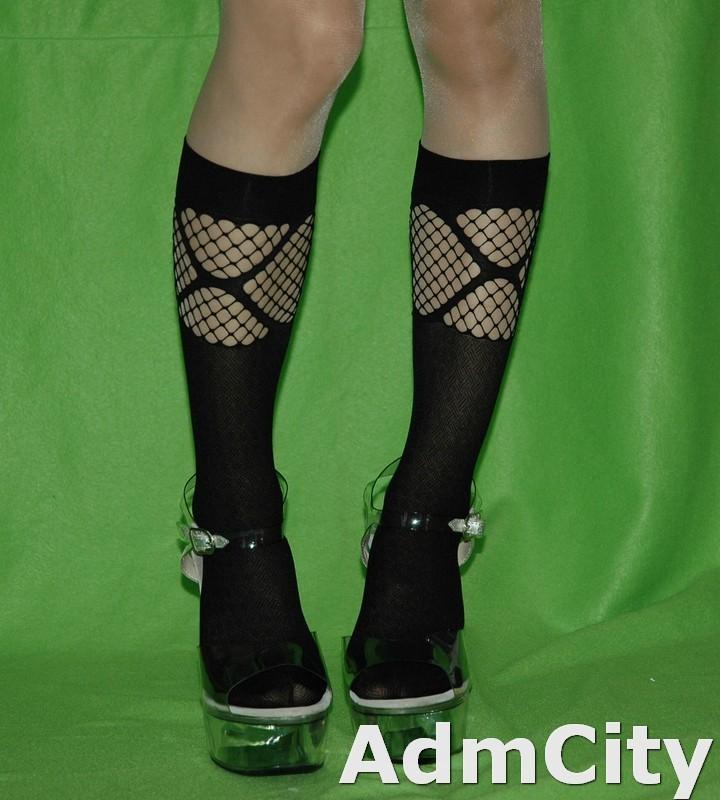 洞洞網狀中統襪 中統絲襪