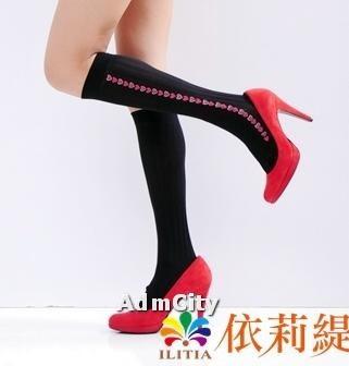 超彈性 流行印花 不透明中統絲襪