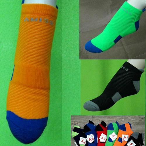後跟防護萊卡機能專業進階版氣墊慢跑襪加大尺寸超厚運動短襪適合腳長 25~29公分 大腳女孩也適合