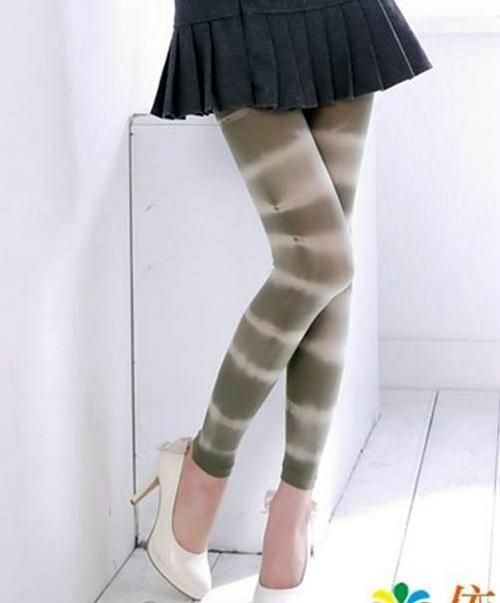 緞染效果內搭褲超彈性打底褲無足褲襪