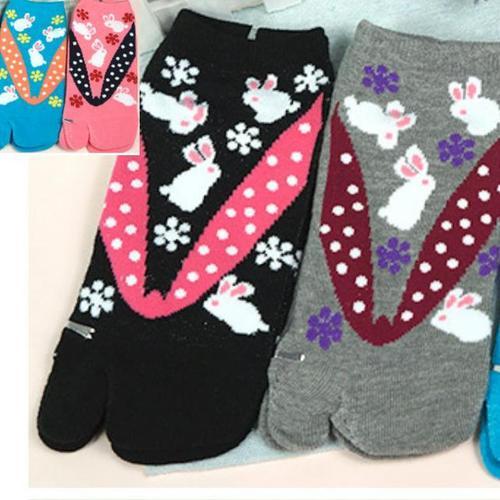 可愛日系兩指襪, 日本忍者夾腳襪, 顏色隨機出貨