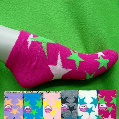 星星腳踝女生短襪,不選色隨機出貨