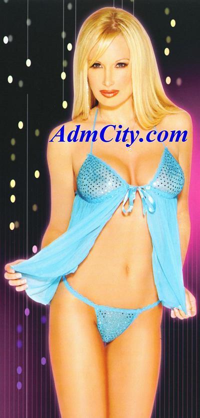兩件式性感內衣,閃亮胸罩搭配蝴蝶結的緞帶,讓您身材的曲線若隱若現, 散發柔魅力.
