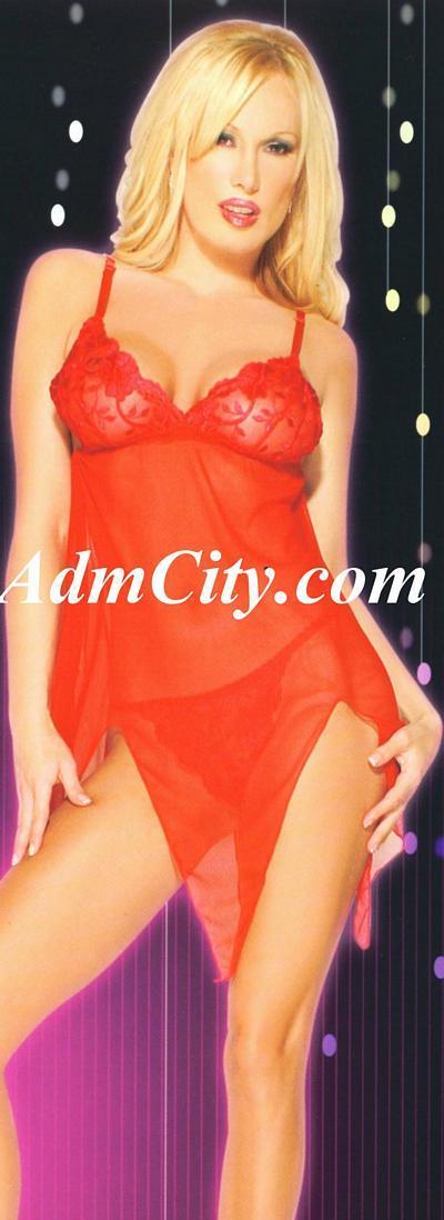性感透明內衣, 採膝上開叉式剪裁 , 並以花邊設計突顯您傲人的胸部曲線, 加上性感內褲的搭配, 使您隱約中散發撩人的曲線美.