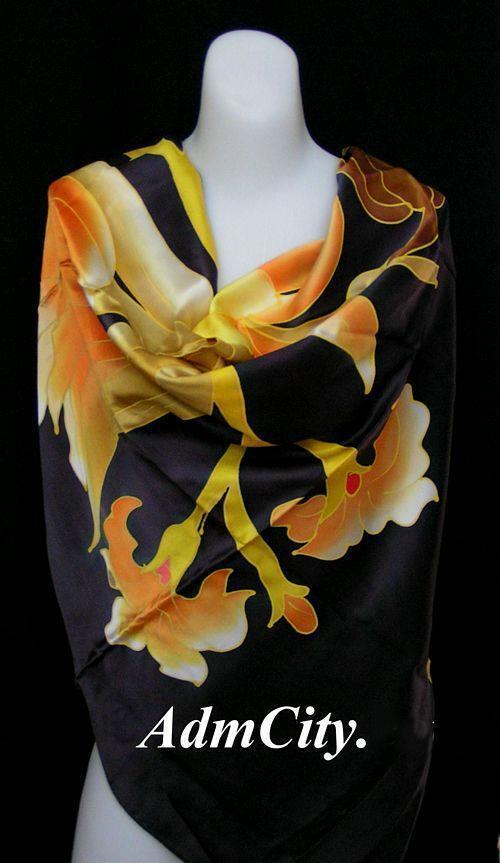 絲巾.  100 x110 cm.