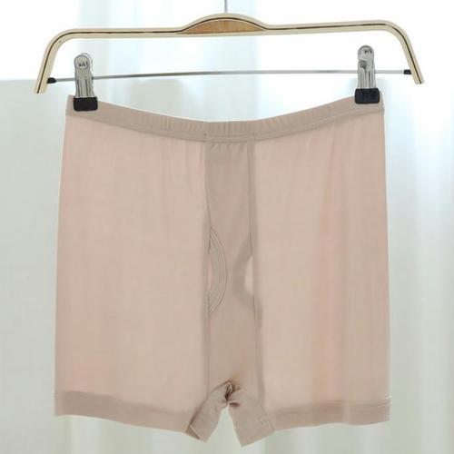 豪華的100%純蠶絲內褲平口褲涼爽的冬天柔軟可呼吸的衛生的