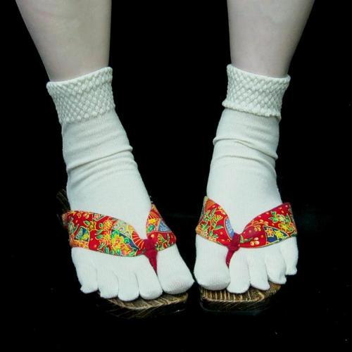 腳趾襪子忍者襪五趾襪純蠶絲滑雪女人襪子短襪英國4-6滑雪熱的温暖的涼爽的冬天柔軟