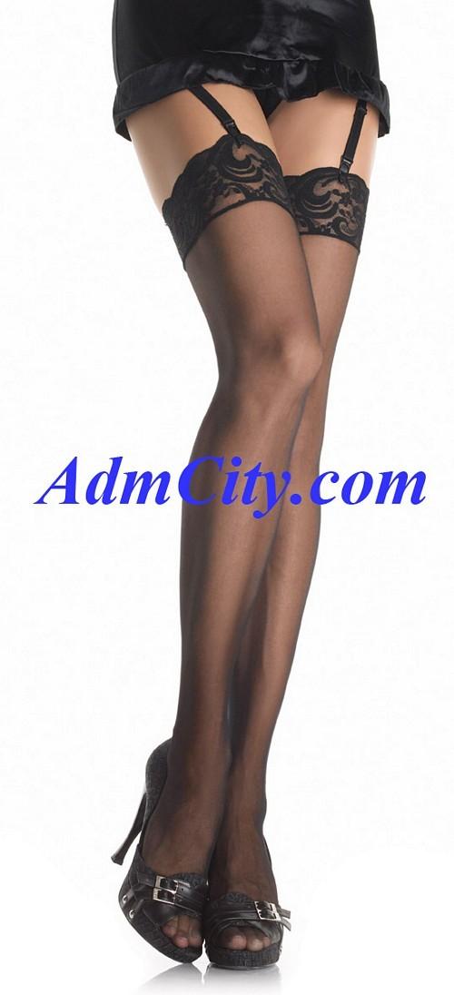 蕾絲 透明 大腿襪 .
