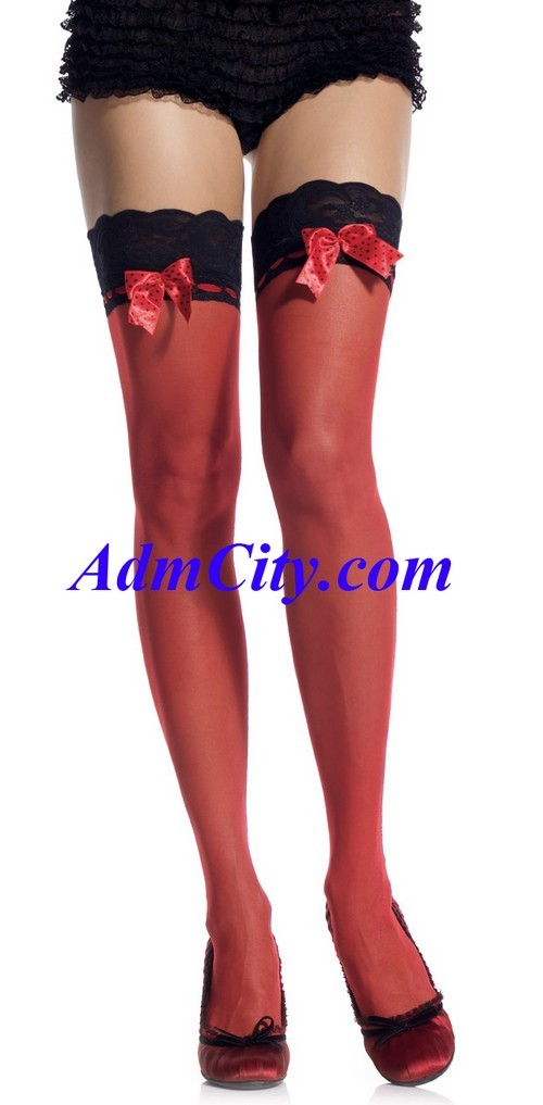 超彈性 spandex 透明 蕾絲 大腿襪 .