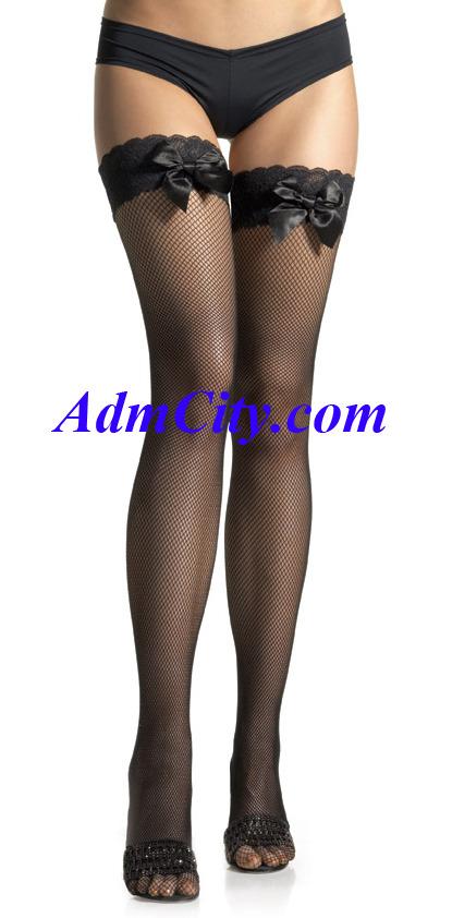 超彈性 spandex 網狀 蕾絲 大腿襪 .