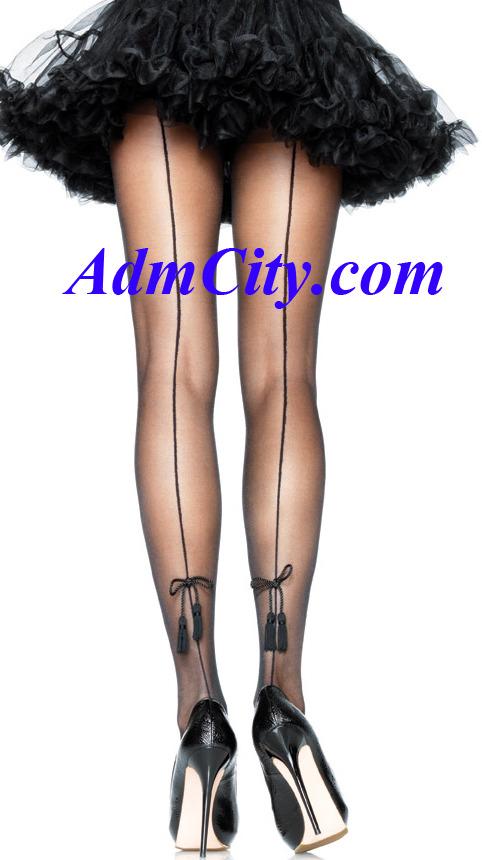 超彈性 spandex 透明 背線 褲襪.