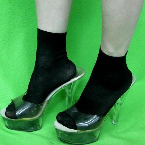 女用超彈性纖維尼龍網狀細網腳踝短襪性感學校時尚可愛