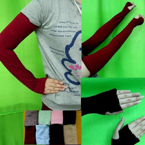UV防曬透氣袖套開指手套涼感戶外健行自行車機車開車適用