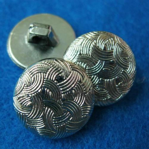 10個條狀波浪樣式縫紉扣