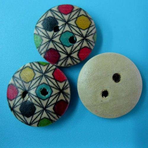 10顆,兩孔縫紉鈕釦手工藝木質圓形鈕扣