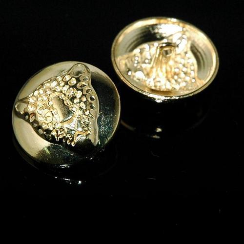 一包10顆, 縫紉金屬鈕釦 圓形鈕扣