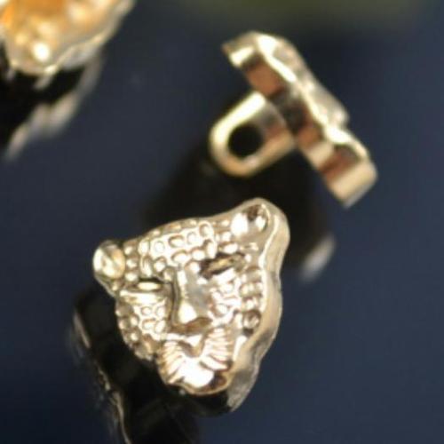 一包10顆, 縫紉金屬豹臉鈕扣 鈕釦 直徑約1.2公分